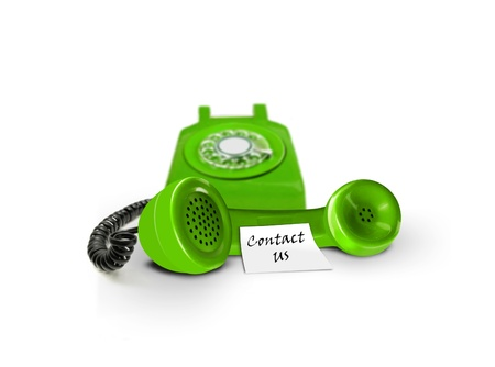 contact us: Contact us by phone Stock Photo
