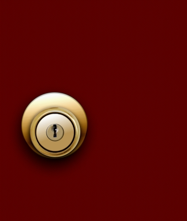 open hole: Door knob on red
