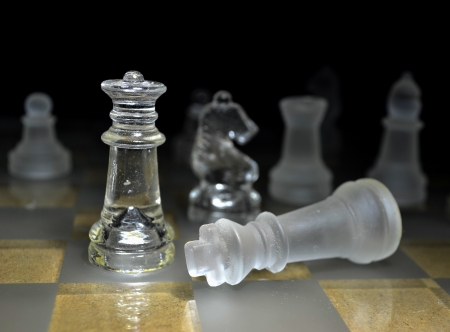 chess player: Chess game queen checkmate