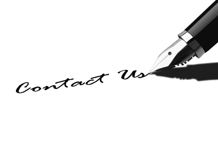 write us: Pen writing Contact Us