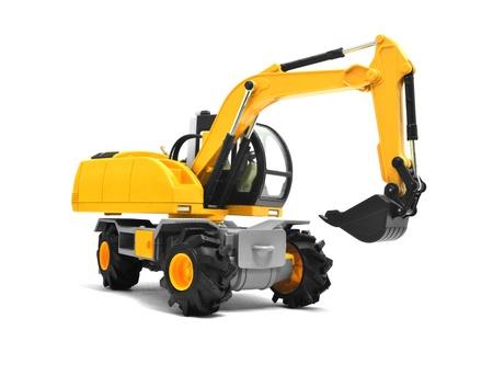 maquinaria pesada: Máquinas excavadoras amarillas modernos