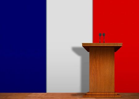 Podium and French Flag photo