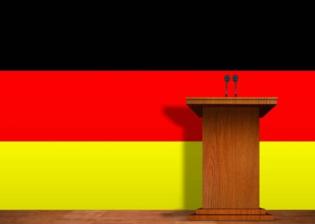 Podium and Germany flag photo