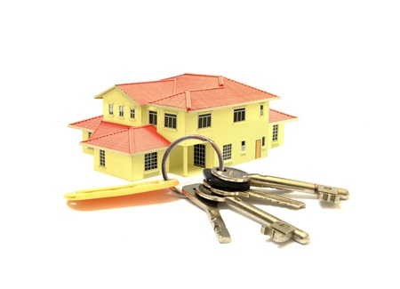 House Model and a Bunch of Keys Stock Photo - 22731850