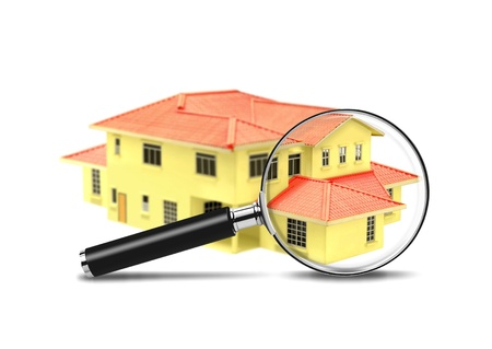 House and Magnifying Glass photo