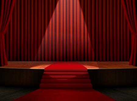 carpet: Red Carpet on Stage with Spotlight