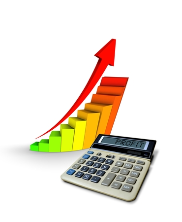 bookkeeping: Business Calculator with Profit Chart