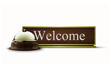 Welcome Desktop Sign and Service Bell photo