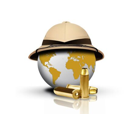 pith: Pith Helmet with bullets and Globe