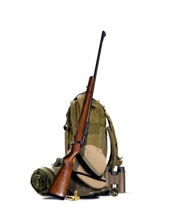 fusil de chasse: Équipement de chasse Banque d'images