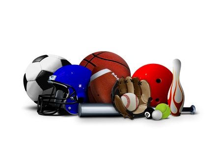 pool balls: Sport Balls and Equipment Stock Photo