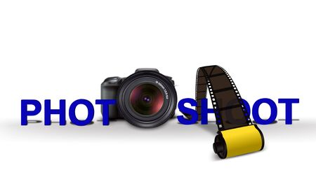 photography icon: Photo shoot with Camera and Film