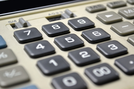 Calculator in Close up photo