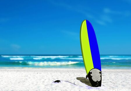 Surf Board on the Beach photo