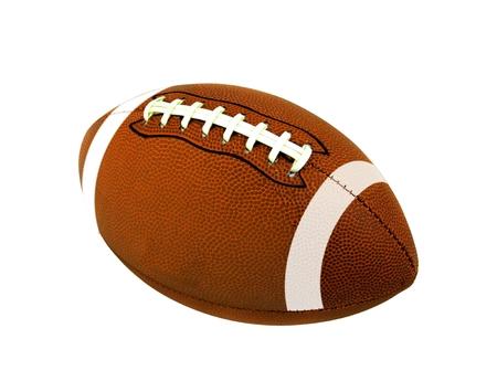 アメリカン フットボールのボールが白で隔離 写真素材