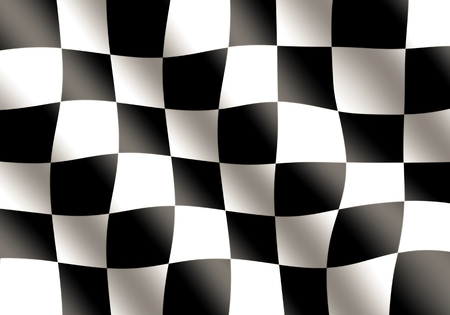 checker flag: Black and White Racing Flag Waving