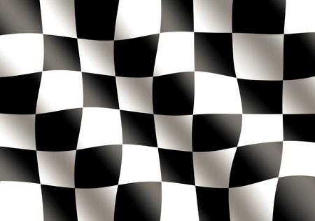 Black and White Racing Flag Waving photo