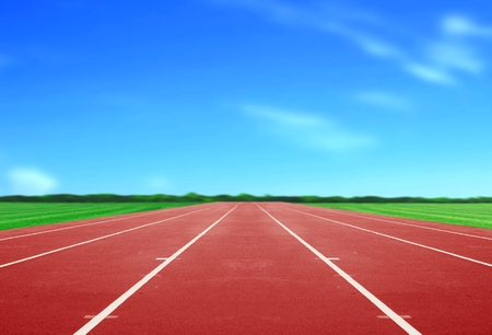 Running Track under Blue Sky photo