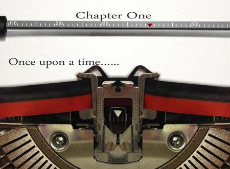 publishes: Typewriter Story Writing Stock Photo