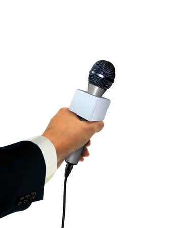 Press Microphone Stock Photo