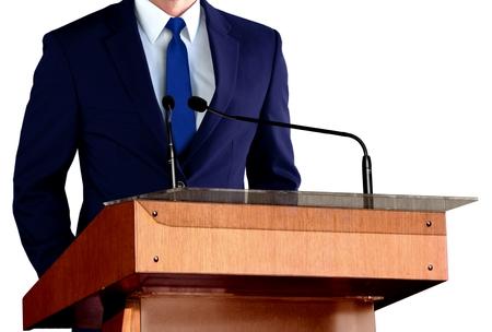 Man Giving Speech photo