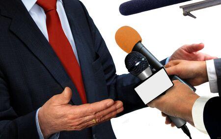 reportero: Conferencia de prensa