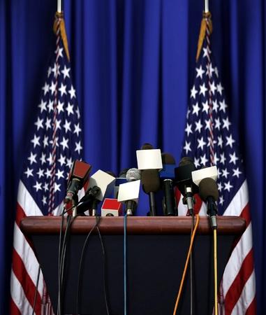 大統領のスピーチの表彰台