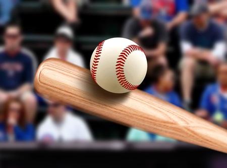 at bat: Bate de béisbol de la bola Golpear