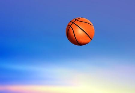 Basketball under Blue Sky photo