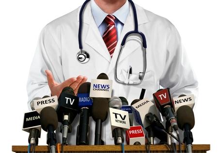reportero: Médico de Prensa y Medios de Comunicación Conferencia