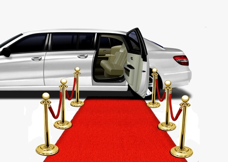 automobile door: Limo Red Carpet Arrival