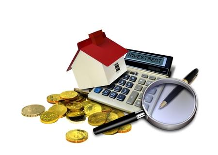 ingresos: Inversi�n inmobiliaria Foto de archivo