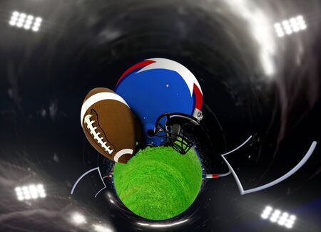 bowl game: Abstract American football in a stadium
