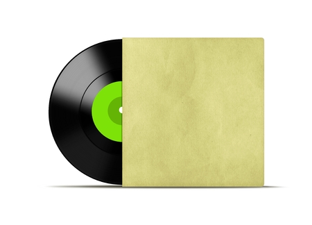 record cover: Vinyl record with cover Stock Photo