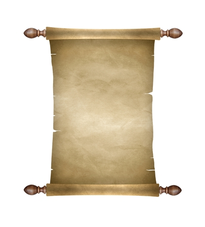 ancient scroll: Old blank paper scroll