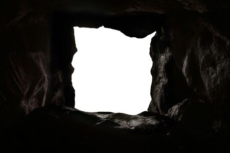 over white: Cave over white