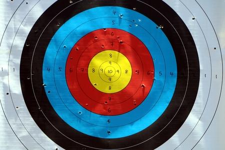 target practice: Target practice board close up