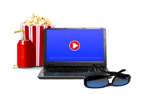見る映画をオンライン コンセプト