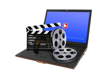 entertainment equipment: Online digital movie concept
