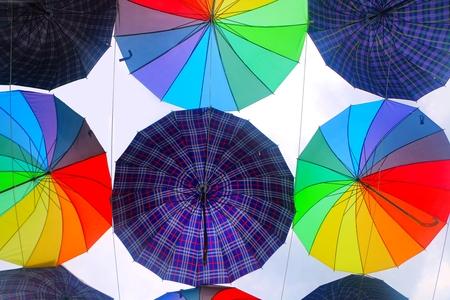 Colorful umbrella design pattern 写真素材