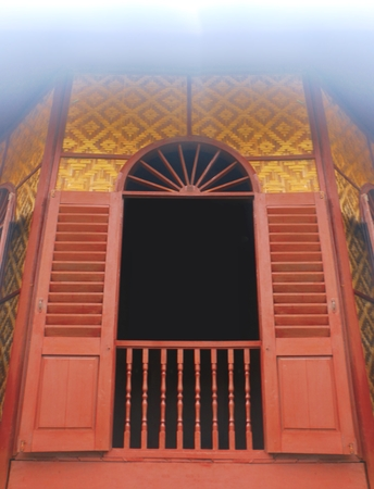 Wooden traditional house window 写真素材