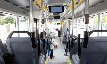 市バスの中からの眺め