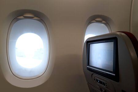 Airplane window seats view