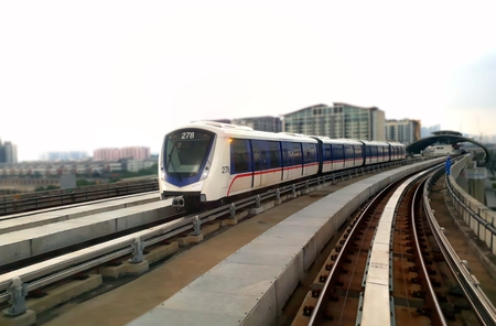 Light Rail Train on the move