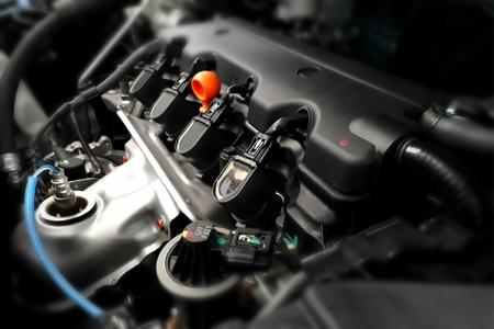 現代車エンジンをクローズ アップ 写真素材