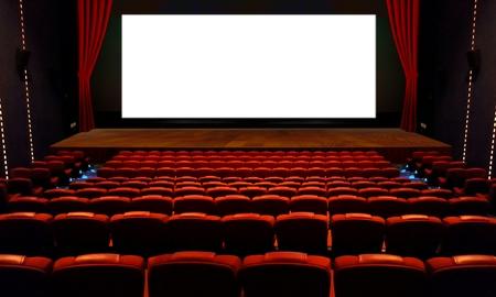 赤シートと広い空白の画面を持つ劇場・ ホール