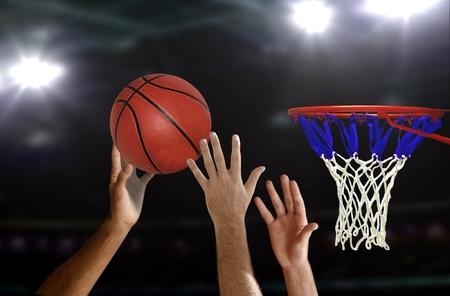 Basketball jump shot to the hoop 写真素材