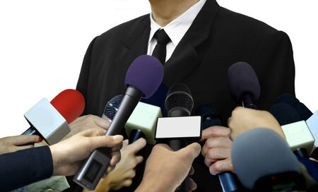 Media press interviews with reporters