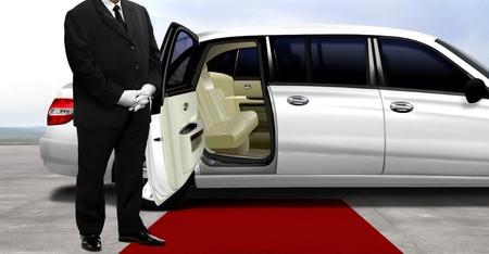 Chauffeur waiting for passenger