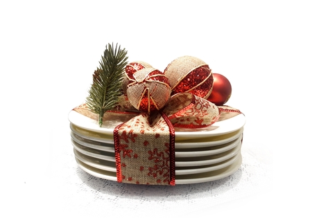 Christmas dinner table decoration 写真素材
